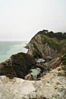 View from the top of Stair Hole by wafitz