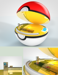Pokeball Interior by PixelPandaa