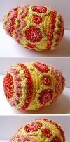 Crochet Faberge style egg by meekssandygirl