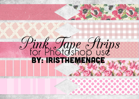 Pink Tape Strips Png Files by iristhemenace