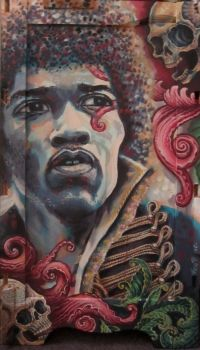 jimi hendrix by cannibol