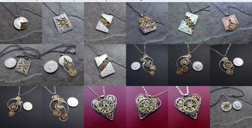 Watch Parts Necklaces by AMechanicalMind
