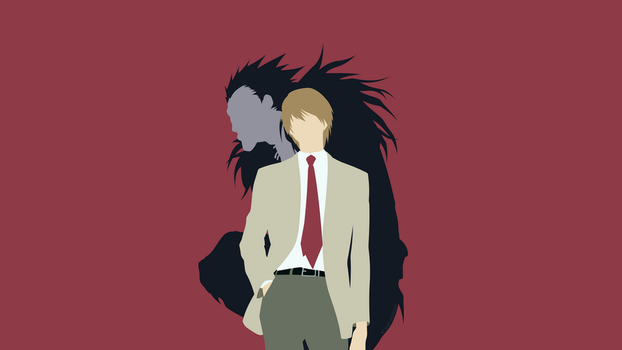 Light Yagami + Ryuk (Death Note) by ncoll36