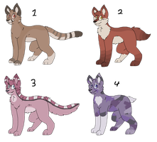 Feline Adopts (1/4 OPEN) by pyth0n-adopts