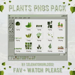 +Plants Pngs Pack by SelenatorGirl2002