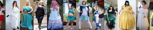 Well rounded ladies cosplaying by EnergyToBeauty