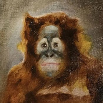 Oil painting - Monkey by yakonusuke