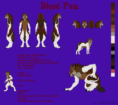 Blood-Paw: Ref Sheet (Updated) by Blood-PawWerewolf