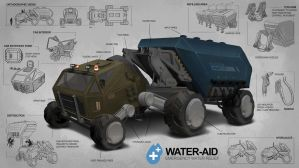 Emergency Water Relief Vehicle by freakyfir