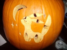 :: Pumpkin: Umbreon :: by TheBealeCiphers