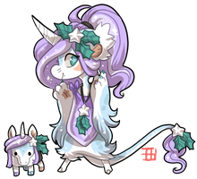 #911 Blessed Mythical BB w/m - Holiday Unicorn by griffsnuff