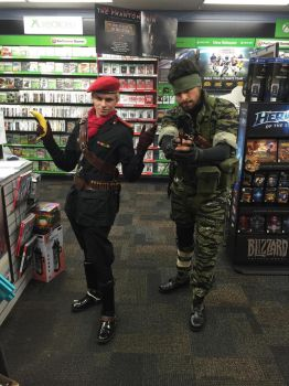 Naked Snake Cosplay and Ocelot by BlueLaguna88