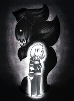 Undertale - Asriel and Flowey by denevert