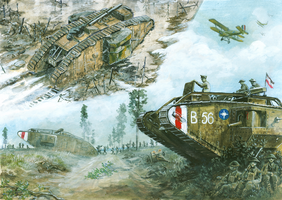 Mark II - Arras 1917, Mk V and Mk V* - Amiens 1918 by tuomaskoivurinne