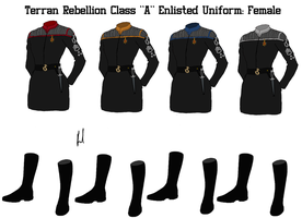 Terran Rebellion Enlisted Crew 'A' Uniform Female by docwinter