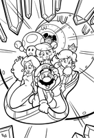 SMB the movie coloring book REMAKE 47 by FlintofMother3