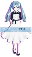 .:Model DL:. LAT Junjou Skirt Hatsune Miku by MMDAnimatio357