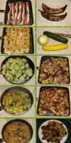 Fried Plantain Pork with Garlic Dill Summer Squash by Windthin