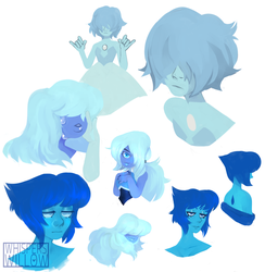 Blue Gems by WhispersWillow