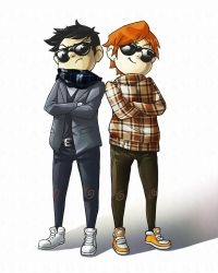damian n' colin-cool dudes by muffinsock
