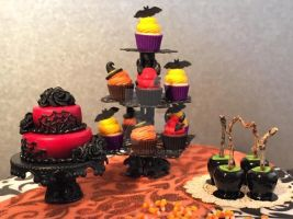 Halloween dessert table by MeganHess