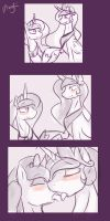 Princest! MLP episode 100 Mini-comic-sketch by Dragk