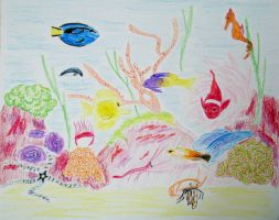 Coral Reef in Crayons by Sunspot01