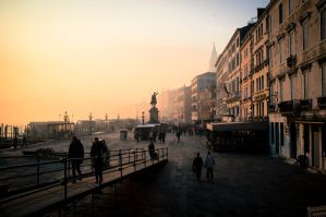 Venice, Sunset by jannettella