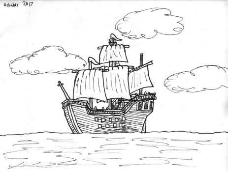 Inktober 2017: Day 25: Ship by DWestmoore