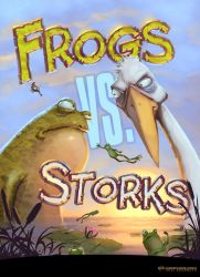 Frogs Vs. Storks by Kai-S