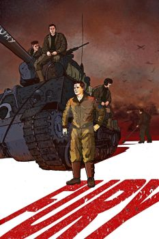 Fury movie 2014 Poster Design by ymhuang0817