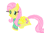Fluttershy wearing a north face by beatlebabe96