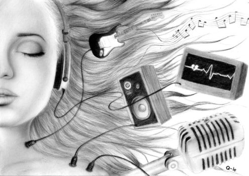 Music equals life by Q-Le