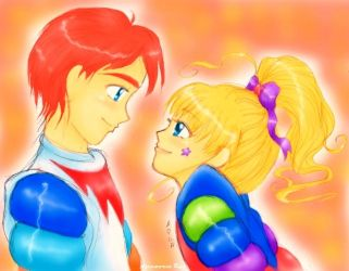 Rainbow Brite and Krys by Glittercandy