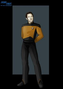 lieutenant commander data by nightwing1975