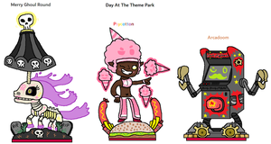 The Outcasters - Day At The Theme Park by CheesySquidSandwich