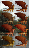 MudWing Adopt 3-3-17 [ALL SOLD] by xTheDragonRebornx