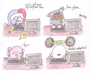 Kirby Characters Can't Type by Candy-Swirl
