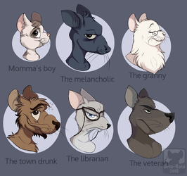 Rat characters by Srta-Rata