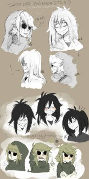 New Style Jeff The Killer and Ben Drowned- LIKE? by LiizEsparza-Chan