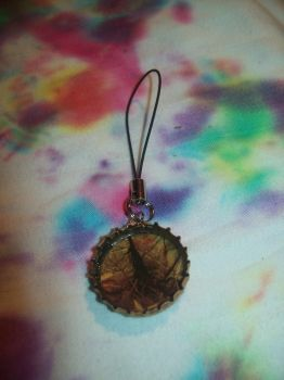 Camo bottlecap keychain by CheriesBowsNThings