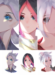 Riven,Fiora and Camille by Miuseorin
