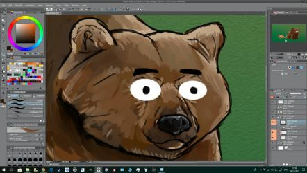 WIP Day 303-Bear  Fox by Dan21Almeida95
