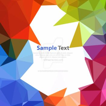 Colorful Rainbow Polygonal Triangular Background by 123freevectors