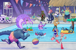 ALIENALLIANCE Summer Pool Party Collab 2018 by AlfaFilly