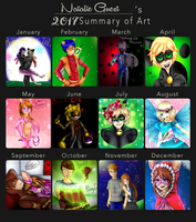 2017 Summary  Of Art By Natalie Guest by NatalieGuest