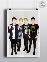 Minimalist 5SOS Poster by Posteritty by Posteritty