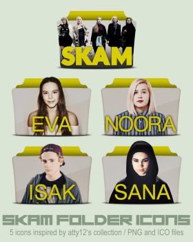 SKAM folder icons by call-me-special