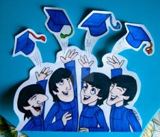 The Fab Four Grads by TheAbbeyRoadie