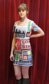 MASS MoCA T-shirt Dress #2 Front by Criddlebee